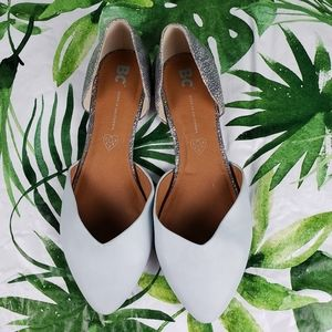 - BC Two Tone D'Orsay Pointy Toe Vegan Flats…